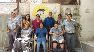 Tapasvi, Vidiya, Muskan and Amol in front row with Deepak Kalra & the staff (1)